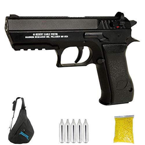 Baby Desert Eagle CO2   Pistola de Airsoft con Bolas de 6mm Tipo Jericho 941. Sistema: Cargas de CO2. Potencia: <3,5 Julios