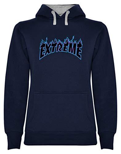 Skateboard Sweat Shirt - Cold Flame - Extreme Glisse Sweatshirt Capuche Femme X-Large Marine