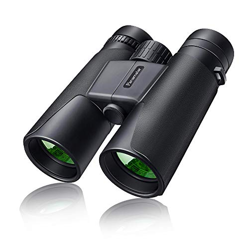 10x42 Binoculars for Adults Easy Focus, Panamalar HD Binoculars 10x Magnification, Lightweight Fogproof Roof Prism Binoculars for Bird Watching, Hunting Travel Hiking Sports with BAK4 Prism FMC Lens