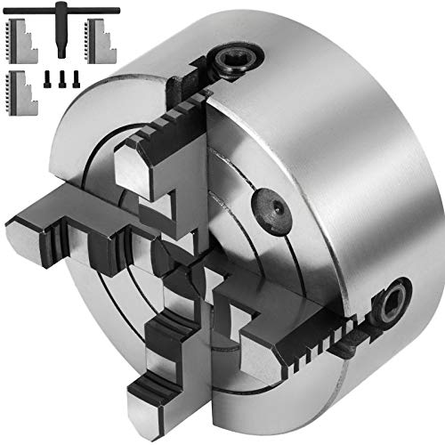 Mophorn K72-160 Lathe Chuck 6 Inch 4-Jaw,Lathe Chuck Independent Reversible Jaw,Metal Lathe Chuck...