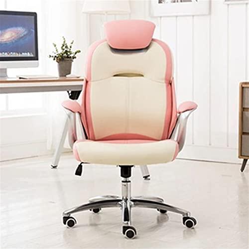 Internet Celebrity Live-Spiel Anker-Drehstuhl, Dicker Büro-Boss Computerstuhl, E-Sports-Schlafzimmer-Sitz (Color : White)