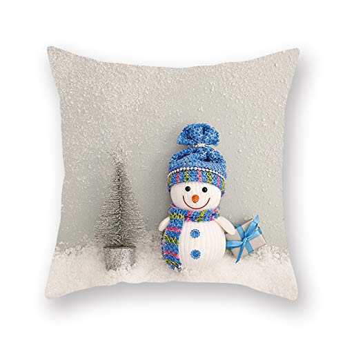 XINRJY Nordic Christmas Printing Pillowcase Thickened Polyester Dirt-Resistant Pillowcase Bedding Living Room Bedroom Sofa Car Cushion Cover