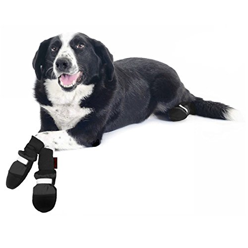 Muttluks, Original Fleece-Lined Winter Dog Boots with Leather Soles for Cold Weather