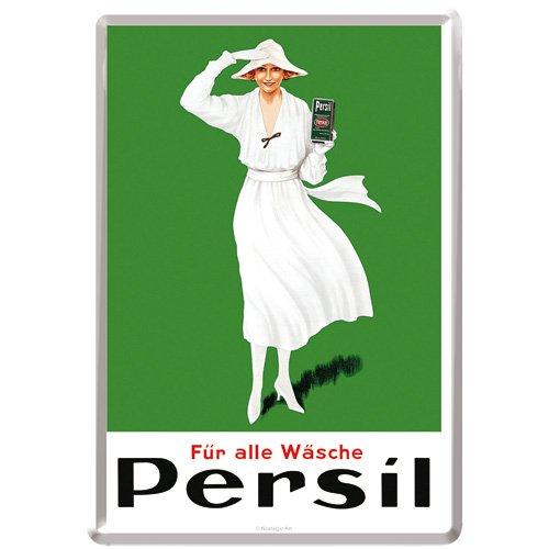Nostalgic-Art 10288 Persil - witte damesgroen 1922, blikken briefkaart 10x14 cm