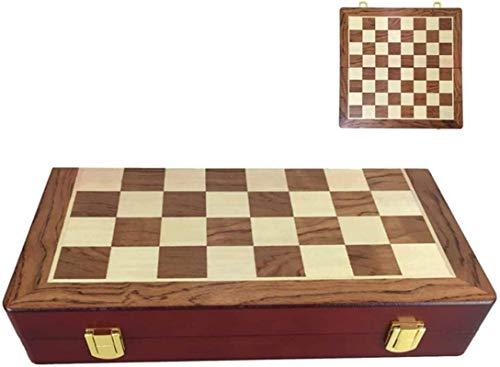 MWKLW Juego de ajedrez Staunton Tablero de ajedrez Internacional Staunton Tablero de ajedrez Plegable de Madera Juegos de Tablero de ajedrez de Viaje adecuados