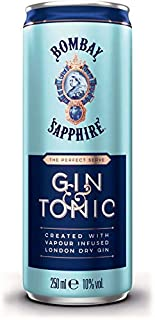 Bombay Sapphire Gin & Tonic ready to Drink Dose 12 x 250 ml