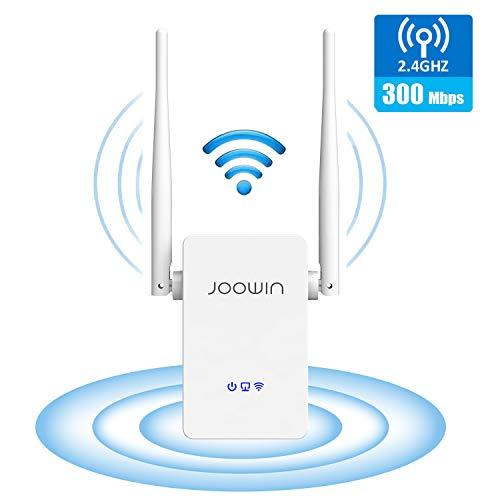 JOOWIN WLAN Repeater 300 Mbit/s WiFi Range Extender 2,4GHz WLAN-Signal Verstärker mit Ethernet-LAN/WAN Port, Repeater/AP/Router Modus WPS Kompatibel zu Allen WLAN Geräten (Weiß)