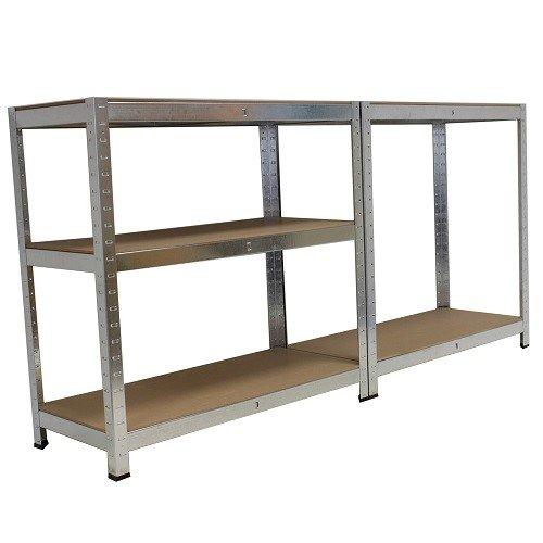 Grafner® Schwerlastregal 5 Ebenen Werkstattregal 1,72m Kellerregal Steckregal bis 375 kg - 5