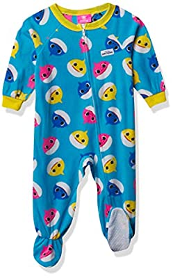 Baby Shark Baby Boys' Footed Blanket Sleeper