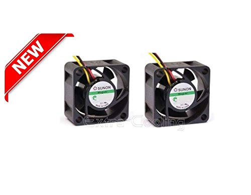 eXtra-Cooling 2X Quiet Replacement Fans for EdgeRouter ER-8 or ERPro-8 only 13~18dBA Noise Each Fan, Best for Home Networking!