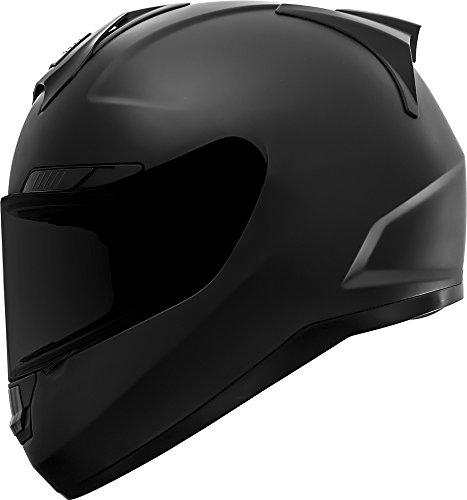 GDM Duke Helmets DK-346 Full Face Motorcycle Helmet (Matte Black, Medium)