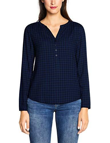 Street One Damen 341686 Bluse, Mehrfarbig (deep Blue 21238), (Herstellergröße:36)
