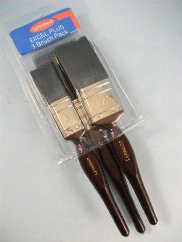 Excel 3-Set di pennelli da pittura da 1/1,5/2 '