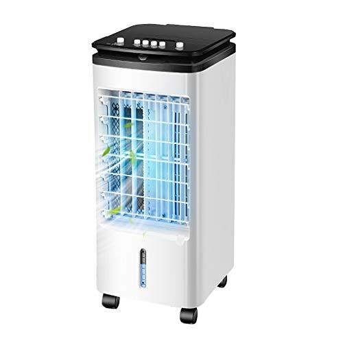 GYF Climatizador Portatil Frio Calor,3-en-1 Multifuncional Enfriador De Aire Purificador Humidificador Uso Portátil Y Fácil Blanco (Color : White, Size : A)