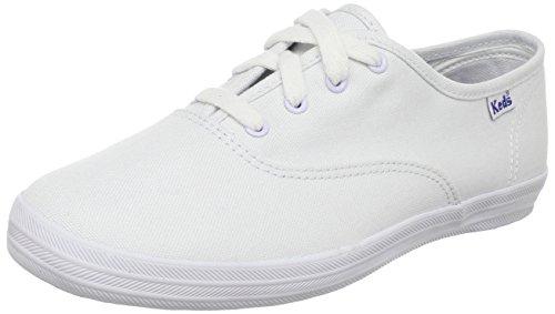 Keds unisex child Original Champion Cvo Sneaker, White Canvas, 2.5 Wide Little Kid US