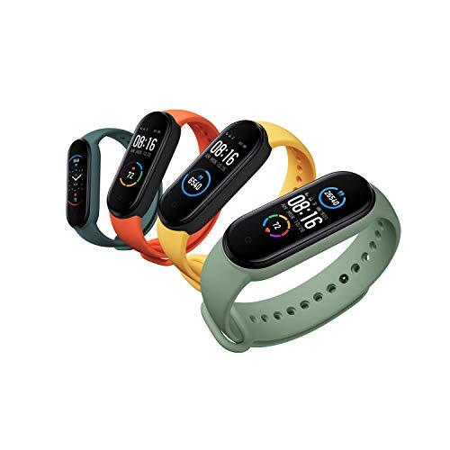 Xiaomi Band 5 Smart Fitness Bracelet Cardiofréquence mètre, Bracelet étanche de Sport, 2020 Dernier écran Bluetooth 5.0 Couleur AMOLED, Noir, Mi Bande 5, Noir M