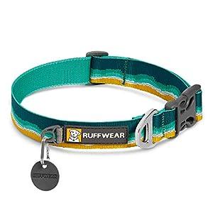 RUFFWEAR, Crag Dog Collar, Reflective and Comfortable Collar for Everyday Use, Seafoam, 11″-14″