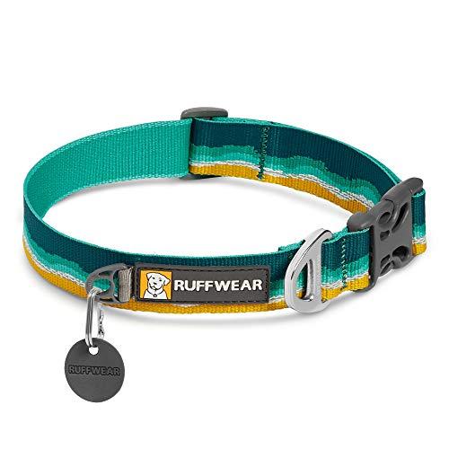 Ruffwear Crag Hundehalsband, Reflektierendes und Bequemes Halsband für den Täglichen Gebrauch, Meeresschaum, 36–51 cm