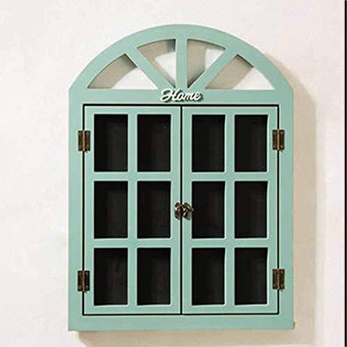 Liuxiaomiao Tafel Kreative Wandbehang Gefälschte Fenster Message Board Tea Shop Wanddekorationen Bekleidungsgeschäft 3 Farben für Shop Küche Zuhause (Color : Blue, Size : 40x52x1.5cm)