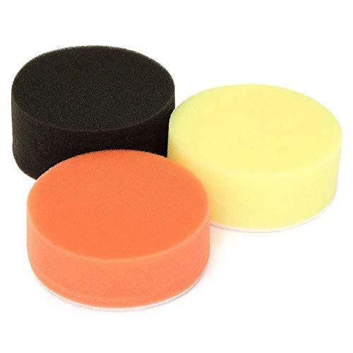 Yi Yi Ma Shi Pin Accesorios para Herramientas Almohadillas de Pulido Redondas de 3 Piezas de 3 Pulgadas Almohadilla de Pulido de Limpieza de Esponja de Espuma Encerada Abrasivo Helado