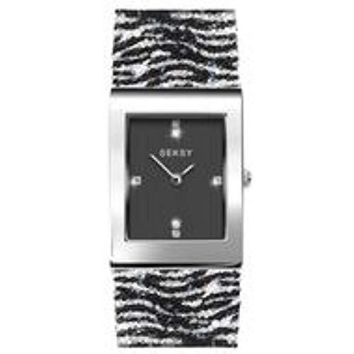 Seksy by Sekonda Rocks Analogue Quartz Ladies Watch with Zebra Print Swarovski Strap 2853