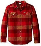 Columbia Men's Flare Gun Stretch Flannel, Mountain red Big Check, Medium