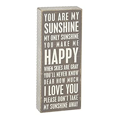 Primitives by Kathy Gray Box Sign, 4-Inch by 10-Inch, You Are My Sunshine