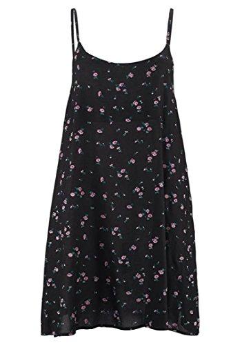 Kleid Strandkleid von Buffalo in Schwarz bedruckt - Gr. 34