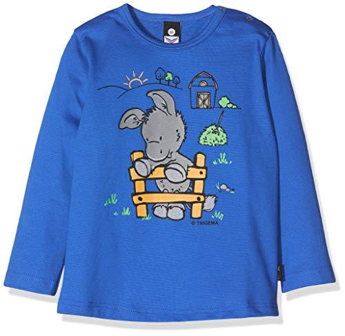 Trigema 102578, T-Shirt Uni Col Ras Du Cou Manches Longues Mixte bébé, Bleu (Royal 049), 68 (Taille fabricant: 68)