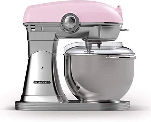 Schneider Consumer - Robot de cocina Vintage - SCFP57, Amasadora para Repostería, Diseño Retro,...