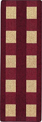 andiamo, tapijt plat weefsel Dalia duurzaam, getest op schadelijke stoffen 67 x 200 cm rood