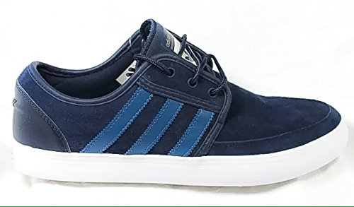 adidas Men Originals Seeley Boat Shoes Color Collegiate Navy/Vista Blue/White (C75631) (UK12.5)