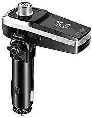 Ewin FMトランスミッター Bluetooth 4.2+EDR Siri&Google Assistantに対応 車載 トランスミッター 高音質 17W急速充電 シガーソケット ハンズフリー通話 U-ディスク/TFカード/Aux-in対応 CVC6.0ノイズ軽減 日本語説明書付き 12~24V車対応 [メーカー1年保証]
