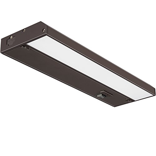 GetInLight 3 Color Levels Dimmable LED Under Cabinet Lighting with ETL Listed, Warm White (2700K), Soft White (3000K), Bright White (4000K), Bronze Finished, 12-inch, IN-0210-1-BZ