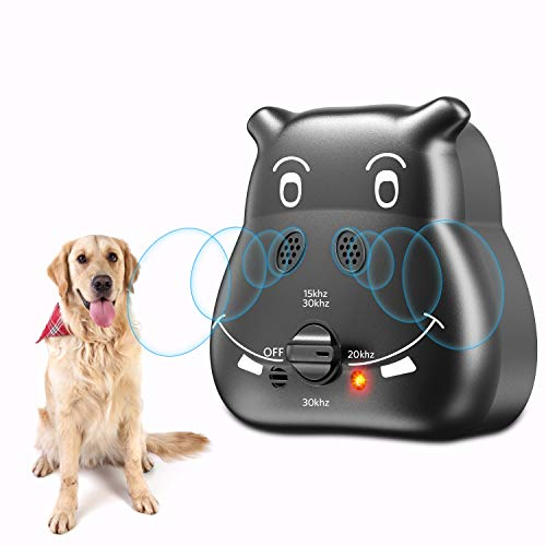 Tinzzi Bark Control Device, Anti Barking Device with 3 Adjustable Ultrasonic Volume Levels, Automatic Ultrasonic Dog Bark Deterrent for Small...
