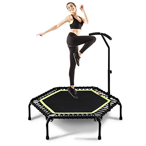 Trampoline 43,3 inch for Volwassenen met Handle Bar Mini Rebounder Makkelijk monteren Indoor Outdoor Non-opvouwbaar springen Mat for Toddler Kids Child Play Workout Fitness Oefening