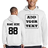 Custom Unisex 2 Sided Hoodies, Create Your own Hoodie, Personalized Sweatshirt White