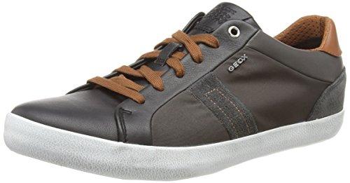 Geox Herren U Box G Sneaker, Schwarz (Black/Dk Taupe C9b6w), 45 EU