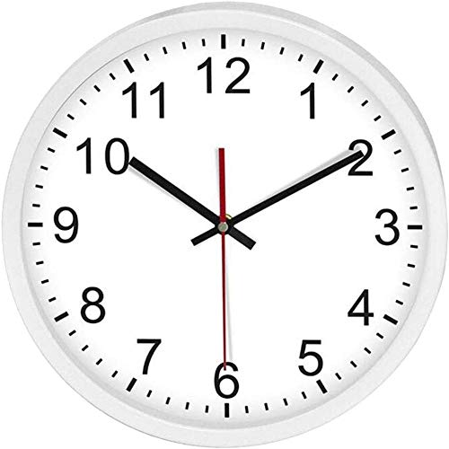 DLMDLL Reloj de Pared inalámbrico Reloj controlado por Radio Reloj de Pared controlado por Radio de Cuarzo Reloj analógico Reloj de Cocina Reloj de Oficina 12 Pulgadas - Negro-Blanco