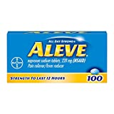 Aleve Caplets with Naproxen Sodium, 220mg (NSAID) Pain Reliever/Fever Reducer, 100 Count