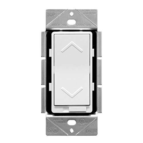 TOPGREENER TGDS3K TGDS-3K Add Switch, LED, CFL, Incandescent, Halogen | Paddle, Decorator Style | Requires TGDS-120 Dimmer to Complete 3-Way Application