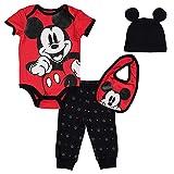 Disney Mickey Mouse Baby Boys Layette Set Bodysuit Pants Hat Bib 12 Months
