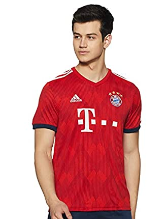 adidas 18/19 FC Bayern Home Camiseta, Hombre, Rojo (rojfcb/rojfue/Blanco), XL