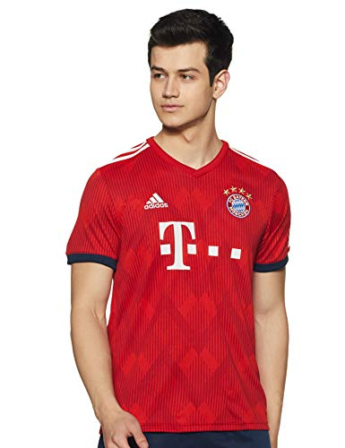adidas 18/19 FC Bayern Home, T-Shirt Uomo, FCB True Red/Strong Red F11/Bianco, S