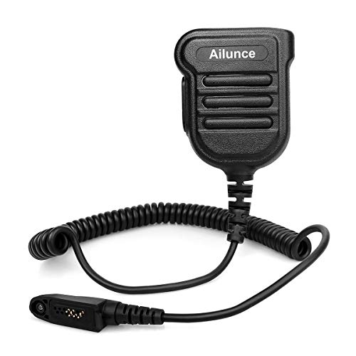 Ailunce H103ML Funkgerät Lautsprecher Microphone Kompatibel mit Ailunce HD1 RT648 RT87 RT29 RT647 RT83 Walkie Talkies IP55 Wasserdicht (1 Stk.)