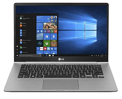 LG Gram 8th Gen Intel Core i5-8265U 14-inch IPS Full HD (1920X1080) Thin and Light Laptop (8GB/256GB SSD/Windows 10 64-bit/Dark Silver/995gms), 14Z990