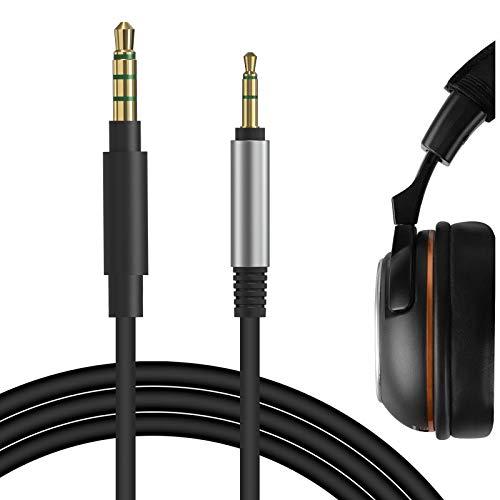 Geekria QuickFit - Cavo per cuffie da gioco compatibile con Turtle Beach, cavo audio per PS4 Playstation VR controller Xbox One con jack da 3,5 mm maschio a 2,5 mm maschio