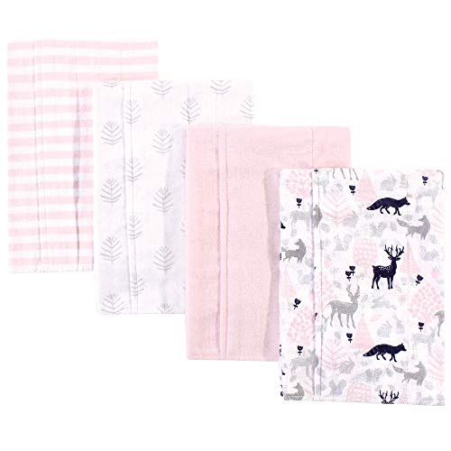 Pink Safari One Size Hudson Baby Flannel Burp Cloths 7pk