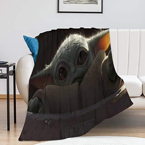 Kid's Blanket Star Wars The Child Mandalorian Season 2 Kids Baby Yoda Blanket for Couch Bed Sofa (80x100cm)