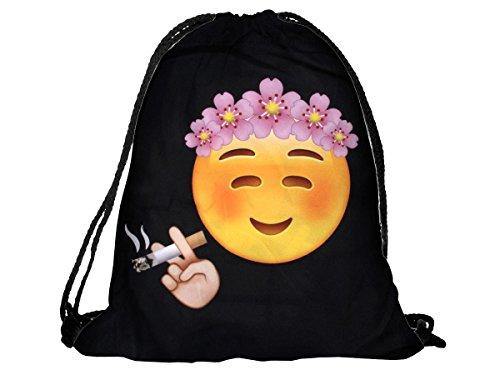 Sacca sportiva a tracolla per l'allenamento, ma non solo. Ultra leggero lifestyle viaggio borsa borsetta palestra zaino a spalla trend sport per uomini donne ragazzi ragazze bambini, RU-87 Totenkopf